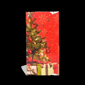 Kalėdinis atvirukas pinigams