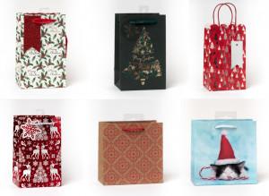 Kalėdinis dovanų maišelis mažas 6 vnt.