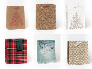 Kalėdinis dovanų maišelis vidutinis 6 vnt.