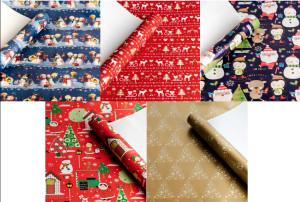 Kalėdinis dovanų popierius 5 vnt.