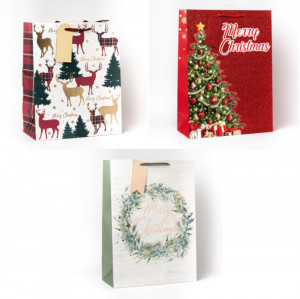 Kalėdinių l.didelių maišelių rinkinys 3 vnt.