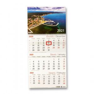 Kalendorius su juostele, trigubas